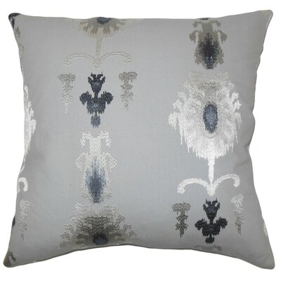 Calico Ikat Throw Pillow Cover Color: Pewter
