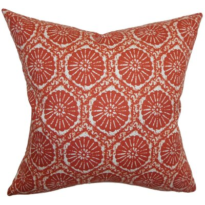 Cniva Floral Cotton Throw Pillow Size: 18 x 18
