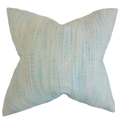 Lakota Stripes Throw Pillow Cover Color: Baby Blue