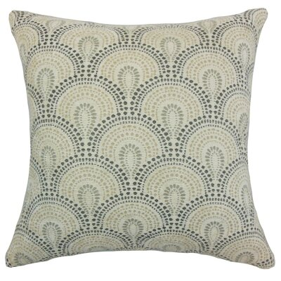 Yaru Geometric Throw Pillow Cover Color: Stone