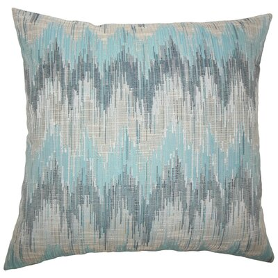 Fleta Ikat Throw Pillow Cover Color: Teal
