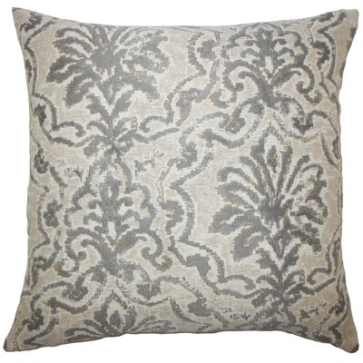 Zain Damask Throw Pillow Cover Color: Pewter