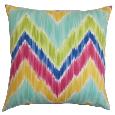Caltha Zigzag Throw Pillow Cover Color: Green