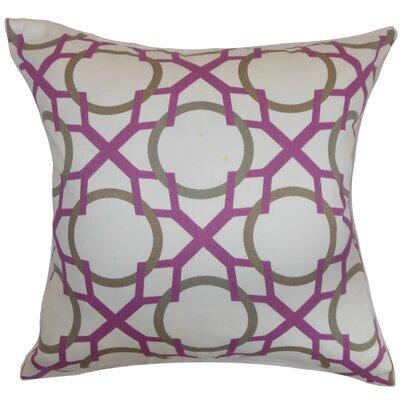 Lacbiche Geometric Cotton Throw Pillow Cover Color: Wisteria