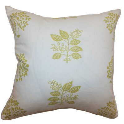 Thaisa Floral Cotton Throw Pillow Size: 18 x 18