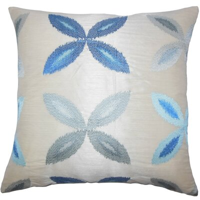Syshe Ikat Throw Pillow Cover Color: Blue