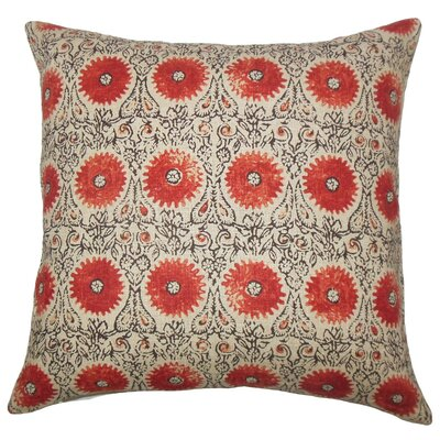 Xaria Floral Throw Pillow Cover Color: Spice