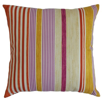 Usinsk Striped Cotton Throw Pillow Size: 18 x 18