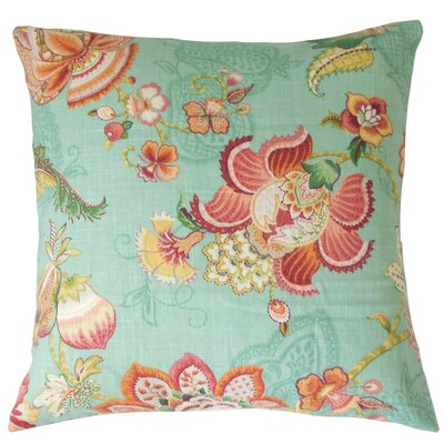 Lieve Floral Throw Pillow Cover Color: Caribbean