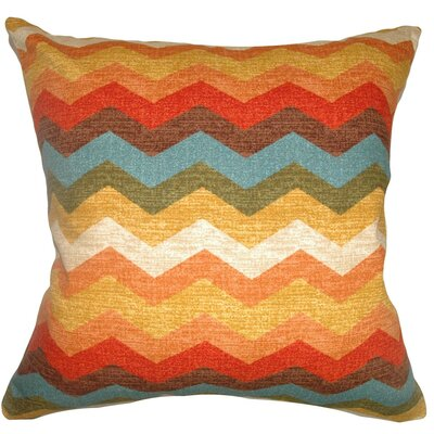 Gail Zigzag Cotton Throw Pillow Size: 18 x 18