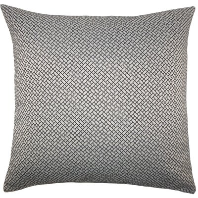 Pertessa Geometric Throw Pillow Cover Color: Black White