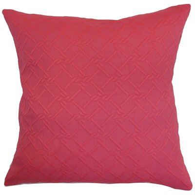 Rafai Solid Cotton Throw Pillow Cover Color: Pink