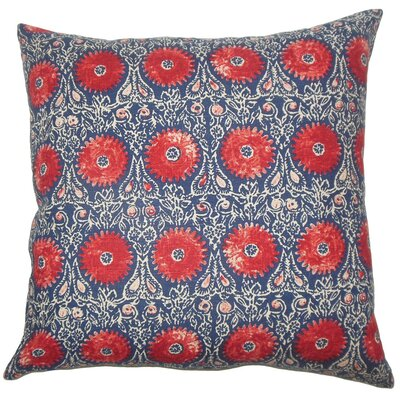 Xaria Floral Throw Pillow Cover Color: Red Blue