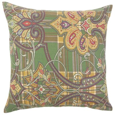 Keil Damask Cotton Throw Pillow Size: 18 x 18