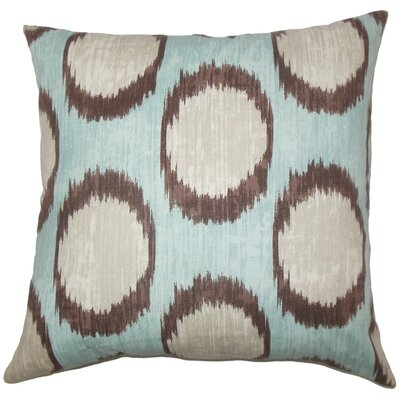 Ridha Ikat Cotton Throw Pillow Cover Color: Turquoise