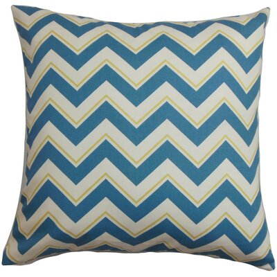 Deion Zigzag Cotton Throw Pillow Cover Color: Blue White