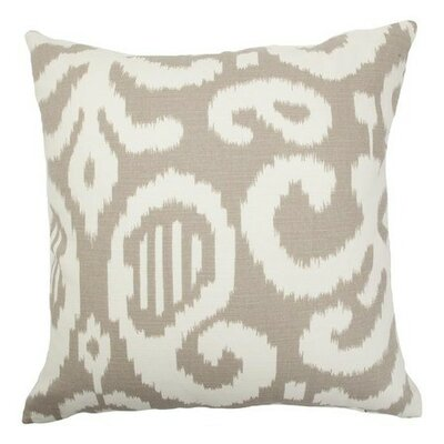 Teora Ikat Throw Pillow Cover Color: Fog