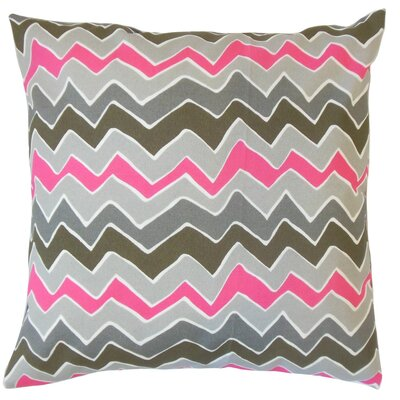 Ishik Zigzag Cotton Throw Pillow Size: 18 x 18