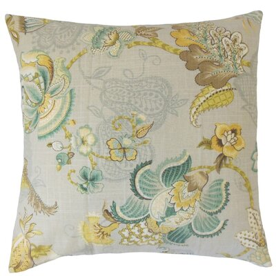 Lieve Floral Throw Pillow Cover Color: Platinum Olive
