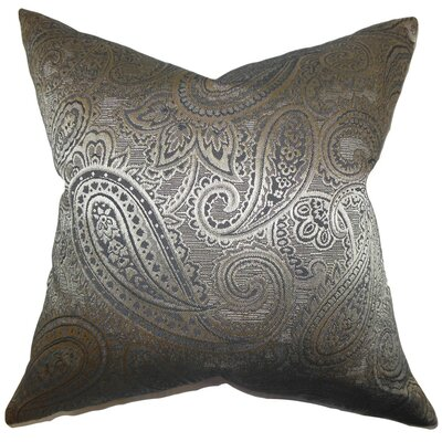 Cashel Paisley Throw Pillow Cover Color: Gray