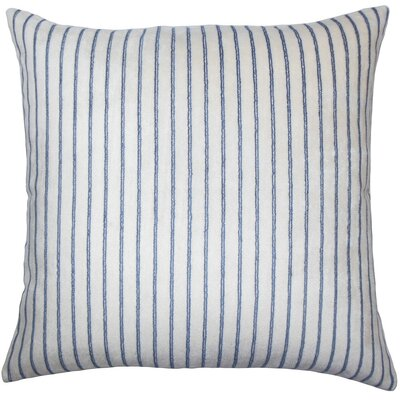 Maaike Striped Throw Pillow Cover Color: Navy