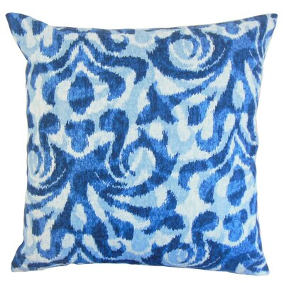Coretta Ikat Throw Pillow Cover Color: Blue