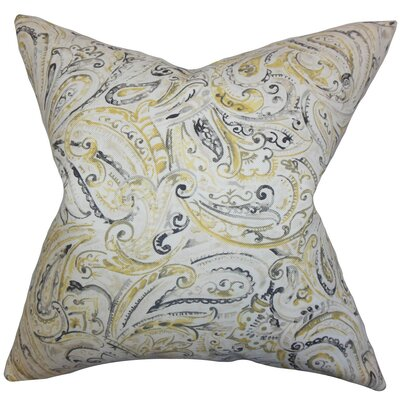 Mirren Paisley Cotton Throw Pillow Size: 18 x 18