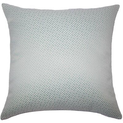 Pertessa Geometric Throw Pillow Cover Color: Aqua