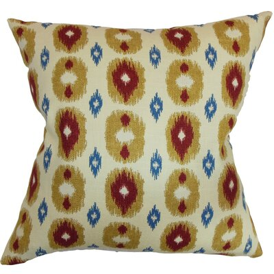 Jesolo Ikat Cotton Throw Pillow Cover