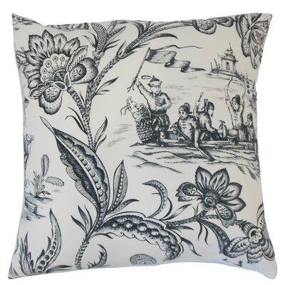 Kanaifu Toile Cotton Throw Pillow Size: 18 x 18