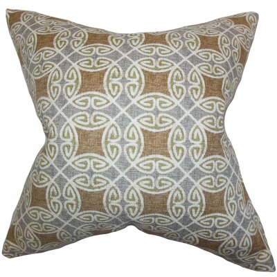 Warren Geometric Cotton Throw Pillow Cover Color: Silver