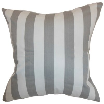 Ilaam Stripes Throw Pillow Cover Color: Storm Twill