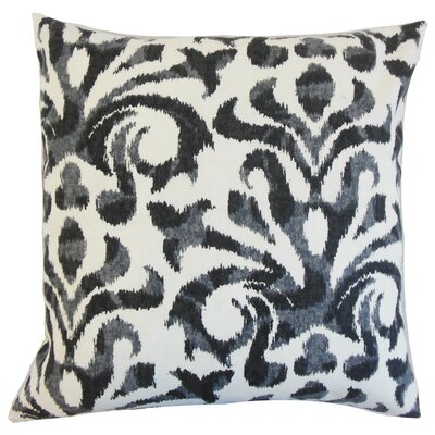Coretta Ikat Throw Pillow Cover Color: Charcoal