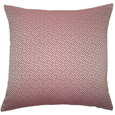 Pertessa Geometric Throw Pillow Cover Color: Berry