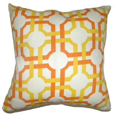 Aebba Geometric Cotton Throw Pillow Cover Color: Sungold