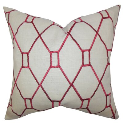 Nevaeh Geometric Throw Pillow Cover Color: Red