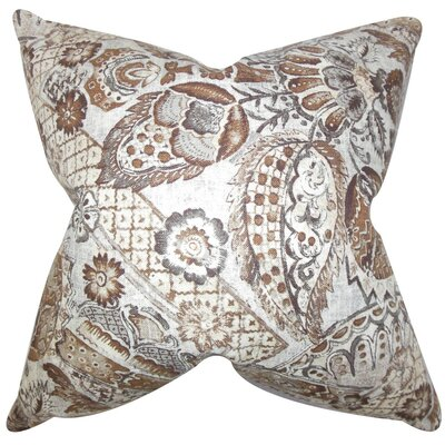 Heidrun Floral Throw Pillow Cover Color: Jewel