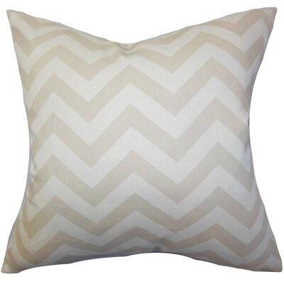 Burd Zigzag Throw Pillow Cover Color: Khaki