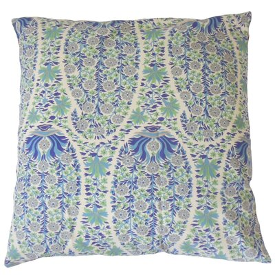 Gerlinde Floral Cotton Throw Pillow Cover Color: Blueberry