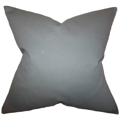 Kalindi Solid Throw Pillow Cover Color: Gray