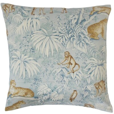 Ender Graphic Cotton Throw Pillow Cover Color: Blue
