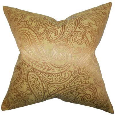 Cashel Paisley Throw Pillow Cover Color: Yellow