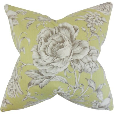Desi Floral Cotton Throw Pillow Size: 18 x 18