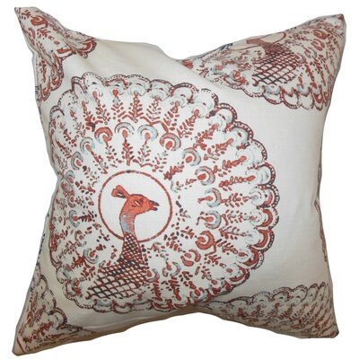 Ieesha Animal Print Throw Pillow Cover Color: Coral