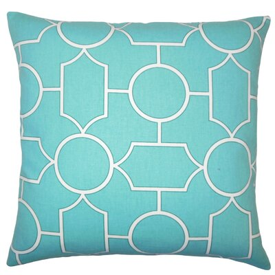 Samoset Geometric Cotton Throw Pillow Cover Color: Turquoise