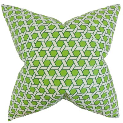 Ragan Geometric Cotton Throw Pillow Cover Color: Green