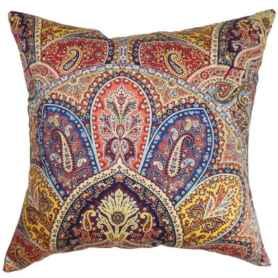 "Lehana Cotton Throw Pillow Size: 22"" x 22"" P22-D-42255-BLUEMULTI-C100"