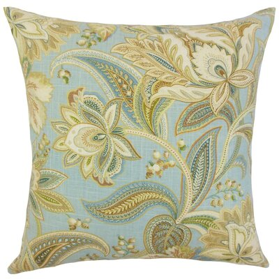 Gitana Floral Throw Pillow Cover Color: Blue