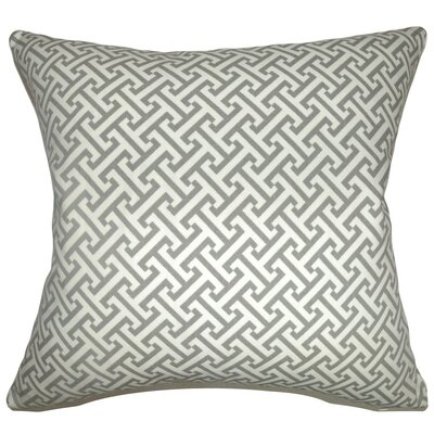 Quentin Geometric Cotton Throw Pillow Cover Color: Ashes