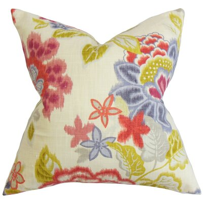 Vasant Floral Cotton Throw Pillow Cover